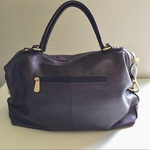 Ora Delphine leather handbag. Purple